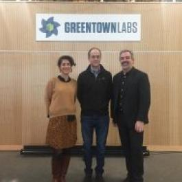 Visite de GreenTownLabs (Daphné Thomas, Throop Wilder, Jérôme Persiani)